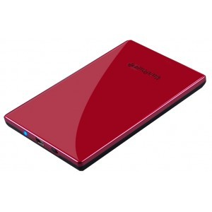 Boitier Externe 2 1/2 Max in Power Rouge Alu Sata Usb backup