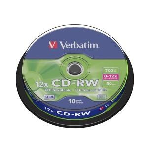 Verbatim DVD+Rw Vierge Par Spindle 10